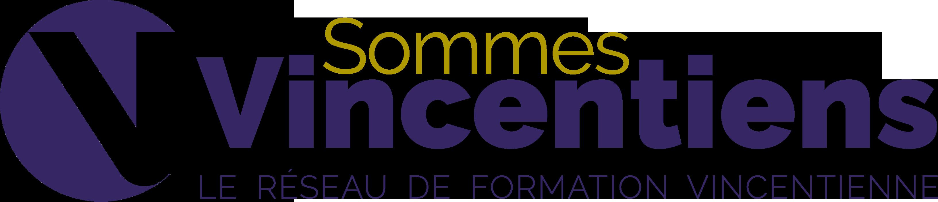 logo vincentians purple